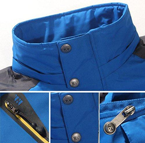 Casual Casual GKKXUE GKKXUE GKKXUE Autunno Dimensioni Primavera Giacca Jersey Colore da Sky Uomo blue Blue Viaggio Uomo e da per Sky XXXXL Giacca da in Uomo HH5rwZnq