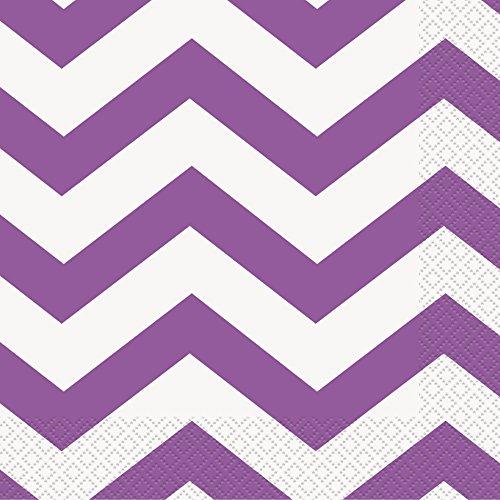 Purple Chevron Paper Napkins, 16ct