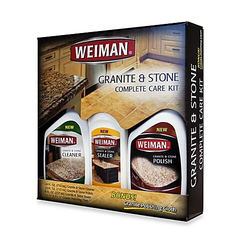 Weiman Granite and Stone Complete Care Kit (Set of 3, 3)