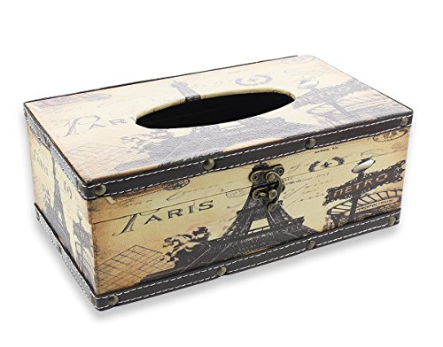 - Le Juvo Tissue Box Cover - Rectangular Tissue Box - Paris Design