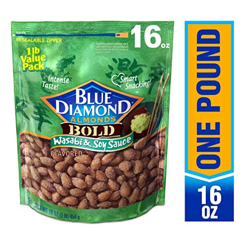 Blue Diamond Almonds, Bold Wasabi & Soy Sauce, 16 Ounce (Best Grocery Store Bbq Sauce)