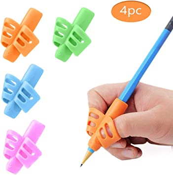 3 Pack Pencil Grips for Kids Handwriting Posture Correction Hollow Ventilation