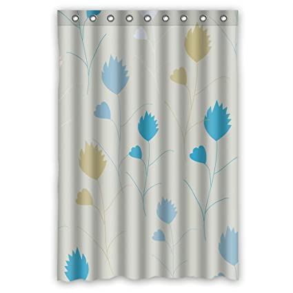 Fybird Polyester Leaf Shower Curtains Width X Height 48 72 Inches W