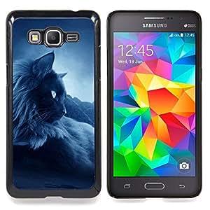 """Oscuro siamés tailandés Birman Gato Negro"""" - Metal de aluminio y de plástico duro Caja del teléfono - Negro - Samsung Galaxy Grand Prime G530F G530FZ G530Y G530H G530FZ/DS"""