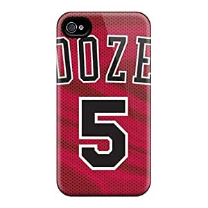 For Iphone 4/4s Tpu Phone Case Cover(chicago Bulls) hjbrhga1544