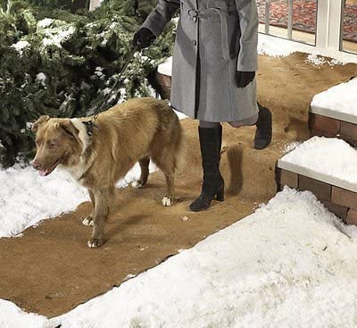 Kovot Wide Non-Slip Ice Mat for Safe Stable Walking Over Ice Snow 10 Feet L x 30 Inches Wide 1
