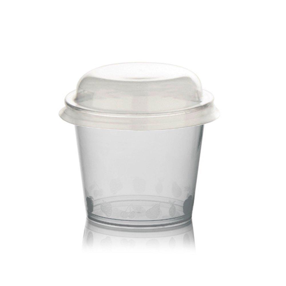 couvercle pour MacEdonie yaourt et glaces transparentes color/ées Plastic Cup For ICE CREAM PZ 100/Coupelle de plastique CC 300/