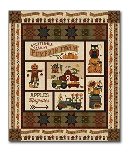 Pumpkin Farm Quilt Kit -Lap Size Quit for The Intermediate Beginner ()