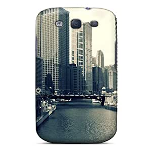 New City With Waterway Tpu Skin Case Compatible With Galaxy S3