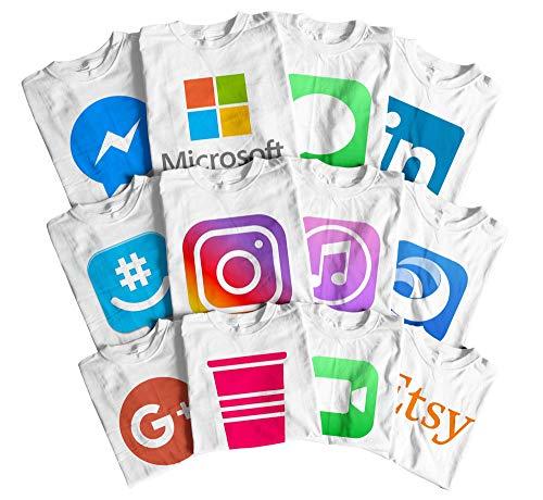 Halloween Social Media T-Shirts Apps Logos T-Shirts - Android and Apple apps Logos Shirts White