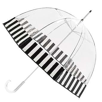 Totes Clear Bubble Umbrella (One Size, Black White)