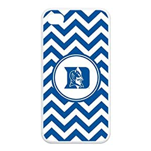 NCAA Duke Blue Devils Logo White Blue Chevron iphone 5c Silicon Case
