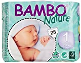Bambo Nature Premium Baby Diapers, Newborn, Size 1, 28 Count (Pack of 6) by Bambo Nature