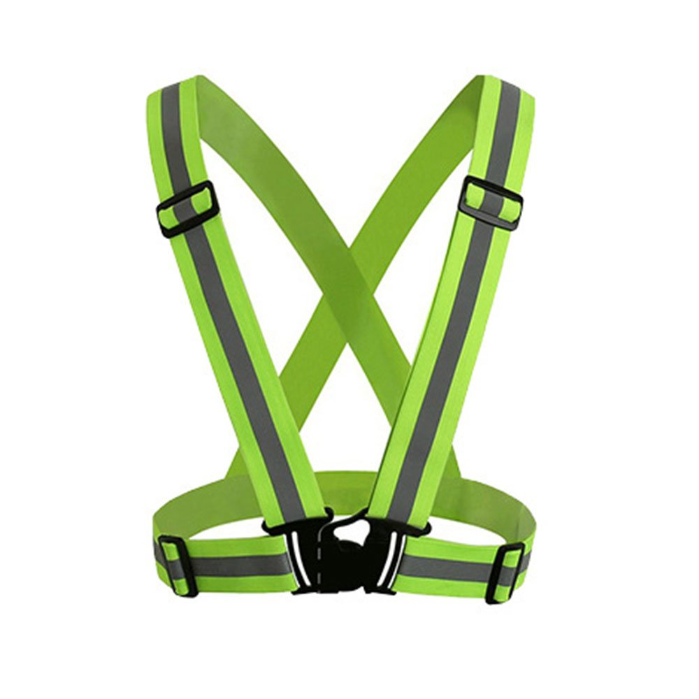 Walking KOBWA Reflective Vest High Visibility Reflective Vest Night Running Gear Adjustable Lightweight Safety Vest Safety Reflector Strips Bands for Running Motorcycle Black Cycling Jogging