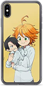 Hatitu Compatible with iPhone 7/8 Case The Promised Neverland Japanese Manga Series Baby Ray Emma Fan Arts Pure Clear Phone Cases Cover