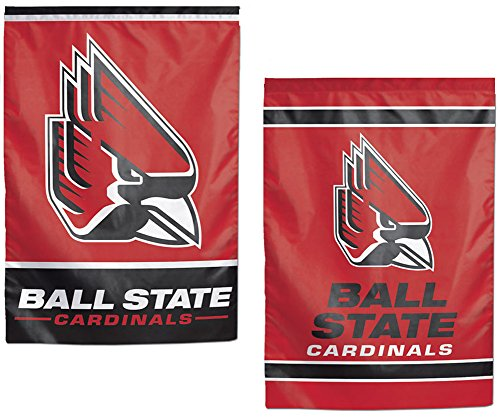 Ball State Cardinals NCAA Garden Flag 12.5 x 18 Inches 2 Sided