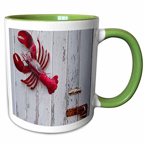 3dRose Danita Delimont - Objects - USA, Maine, Freeport, lobster pound, lobster toys - 11oz Two-Tone Green Mug - Maine Freeport Outlets