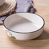 RXY-BOWL Ceramic Round Soup Bowl Salad Bowl Fruit Bowl Household Large Mixing Bowl (Size : 17.8x17.8x5.2cm)