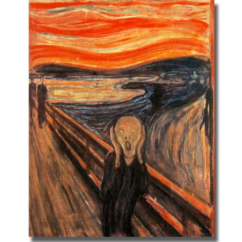 The Scream by Edvard Munch Premium Gallery-Wrapped Canvas Giclee Art (Ready to Hang)