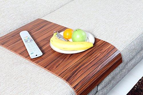 (Sofa Tray Table - Long (Canadian Walnut), Sofa Arm Tray, Armrest Tray, Sofa Arm Table, Couch Tray, Coffee Table, Sofa Table,Wood Tray,Wood Gifts)