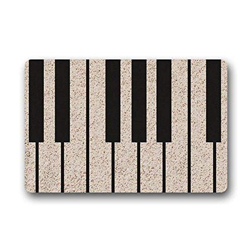 JXSED Piano Music Key Doormat Indoor/Outdoor Non-Slip Rubber Welcome Mats Floor Rug for Bathroom/Front Entryway, 16x24 -