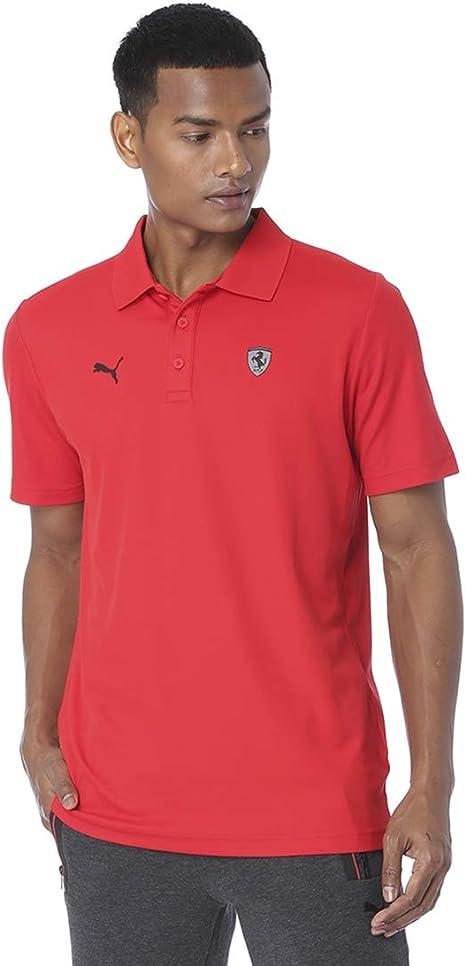 Puma Ferrari - Polo para hombre Rojo Rosso Corsa L: Amazon.es: Ropa y accesorios