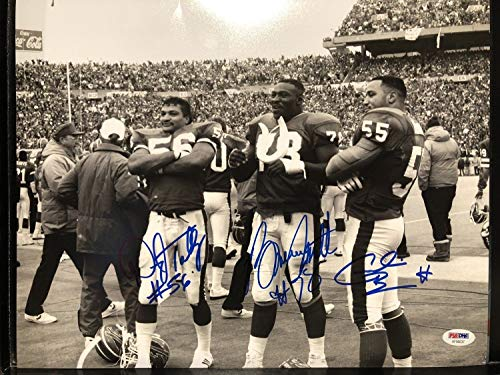 Smith Bills Signed Bruce (Bruce Smith Bennett Darryl Talley Autographed Signed 11x14 Photo Buffalo Bills Memorabilia PSA/DNA)