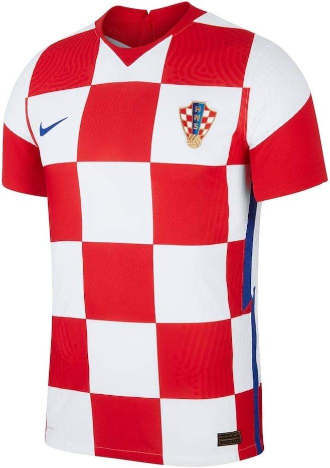 Nike 2020-2021 Croatia Home Vapor Football Soccer T-Shirt Jersey
