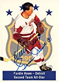 Gordie Howe autographed Hockey Card (Detroit Red Wings) 1994 Parkhust #145 Inscribed to Jim - Hockey Slabbed Autographed Cards