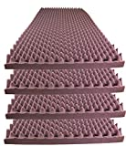 Foamily Burgundy Acoustic Foam Egg Crate Panel Studio Foam Wall Panel 48'' X 24'' X 2.5'' (4 Pack)