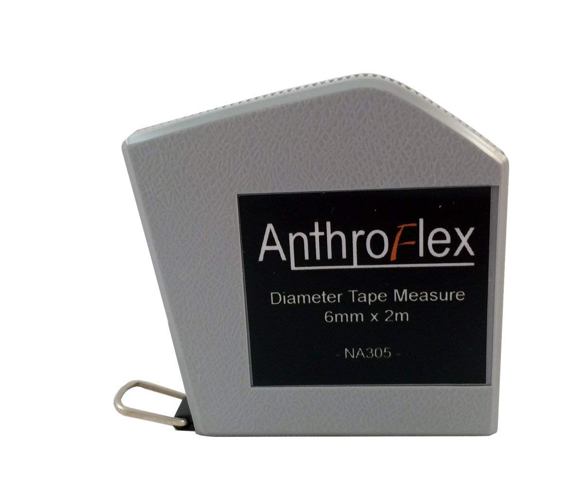 AnthroFlex Anthropometric Diameter Tape Measure 6MM x 2 Meter Metric Flexible Steel Blade for Circumference, Body