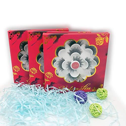Veleasha 5D Faux Mink Lashes Handmade Luxurious Volume Fluffy Natural False Eyelashes 7 Pairs   Dubai