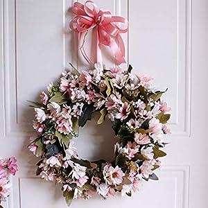 Shouyi Artificial Daisy Flower Wreaths Flowers Garland for Front Door Wall Home DIY Garden Office Wedding Decor 6