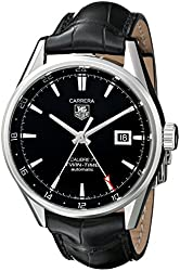 TAG Heuer Men's WAR2010.FC6266 Carrera Analog Display Swiss Automatic Black Watch