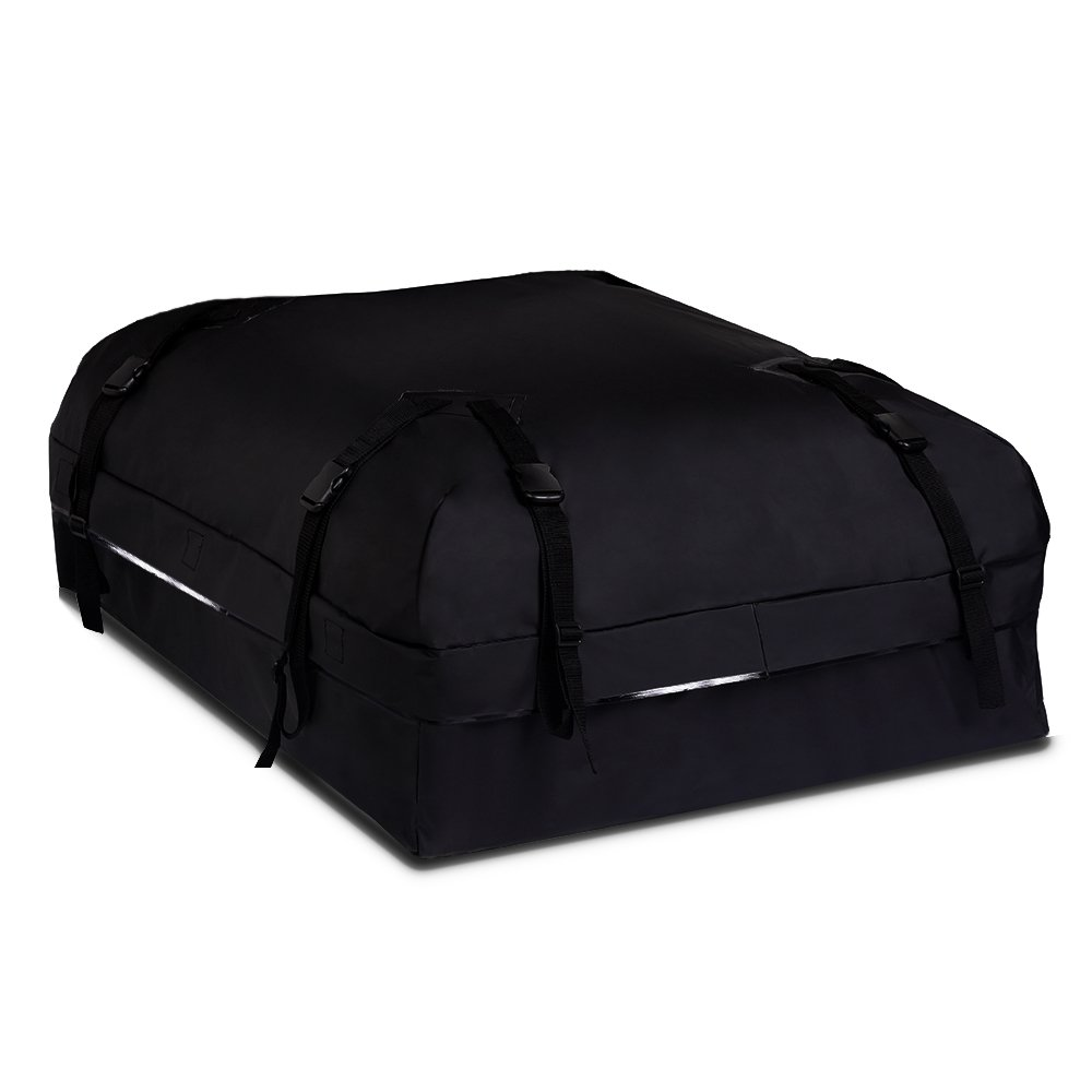 BOLTLINK Rooftop Cargo Carrier Bag, Waterproof Roof Bag with Heavy-Duty Wide Straps and Buckles,Easy to Install for Most Car,Vans and SUV