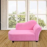 CASART Kids Sofa Children Armrest Lounger Chair Bedroom Couch Seat Coral Fleece Boys Girls Pink