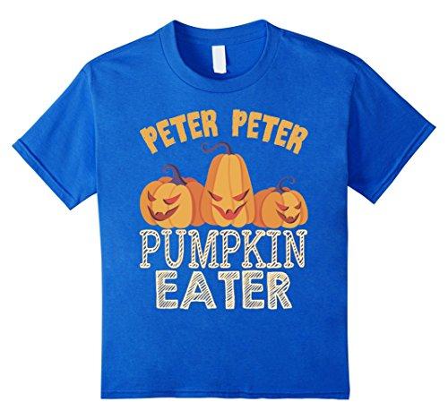Kids Peter Peter Pumpkin Eater T-Shirt Funny Halloween Gift Shirt 4 Royal Blue
