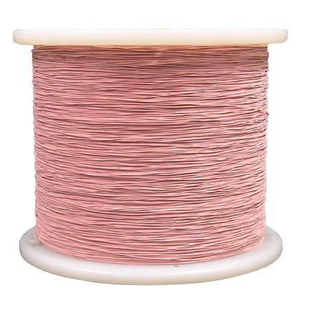 MSS Litz Wire, S. Nylon/ S. Nylon, AWG 22, 40/38, 12 TPF, Type 1, Color: Red, (155ºC) Rating by MSS