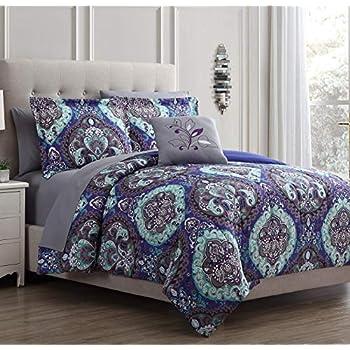 Amazon Com Chic Home Mumbai 8 Piece Reversible Comforter