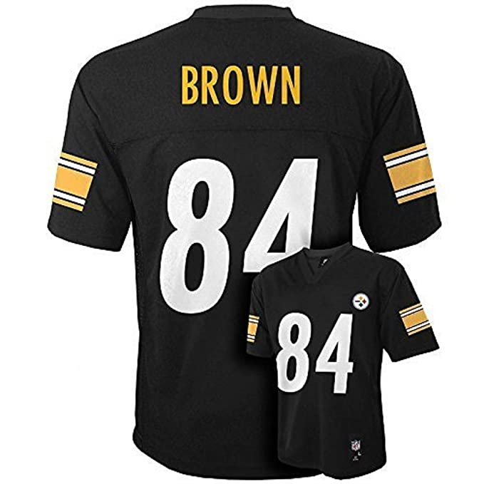 purchase cheap ee1e8 e30e4 Antonio Brown Pittsburgh Steelers Black NFL Kids 2016-17 Season Mid-tier  Jersey