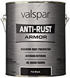 Valspar 21826G Flat Black Enamel - 1 Gallon
