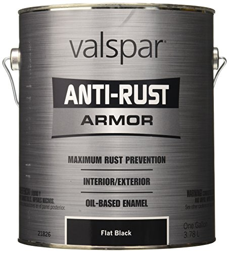 Valspar 21826G Flat Black Enamel - 1 Gallon (Paint Auto Flat)
