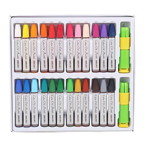 huici Art Drawing Set 24 Pcs Color Oil Pastels Crayon Kit Nontoxic Multicolor Children's Drawing Pen