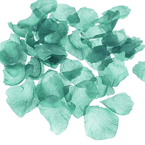 Homeford 300-Piece Faux Rose Petals Aisle Confetti Table Scatter, Aqua