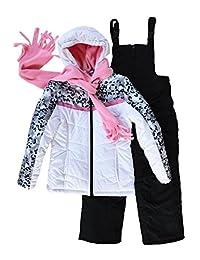 Snowsuits for Kids Girl's 3-Piece Leopard Print Snowsuit