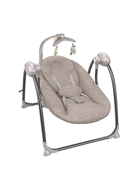 TRELLA Silla Mecedora Plegable Eléctrica Bebé Artefacto para Ayudar Al Bebé a Dormir El Sacudidor Cómoda