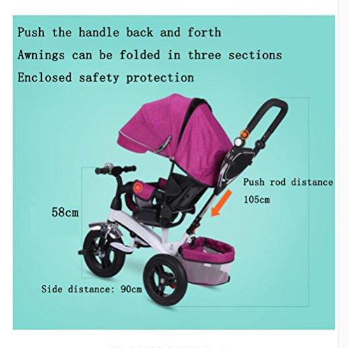 QXMEI Triciclo para Niños Triciclo 1-3-2-6 Años De Bicicleta para Niños con Toldo,Beige: Amazon.es: Hogar