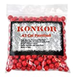 Konkor .43 Caliber Paintballs 250ct Red