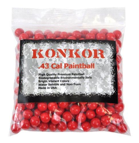 Konkor .43 Caliber Paintballs 250ct Red by Konkor