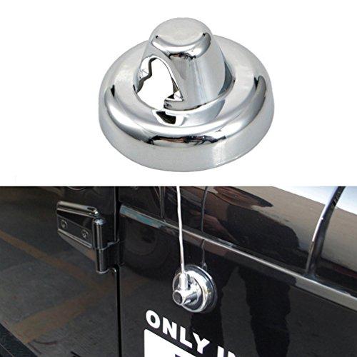 Antenna Base Cover 1PC Silver Chrome Antenna Cover Trim for 2007-2017 Jeep Wrangler JK